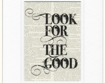 look for the good print