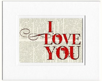 I love you in red sign