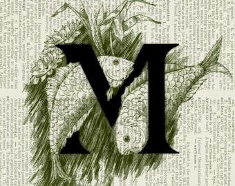 Initials, decorated initials print