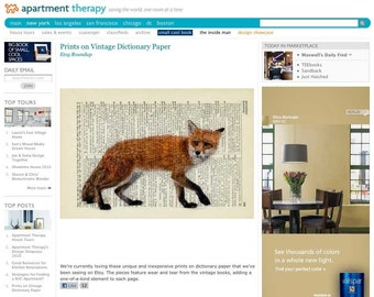 fox print on Apartment Therapy