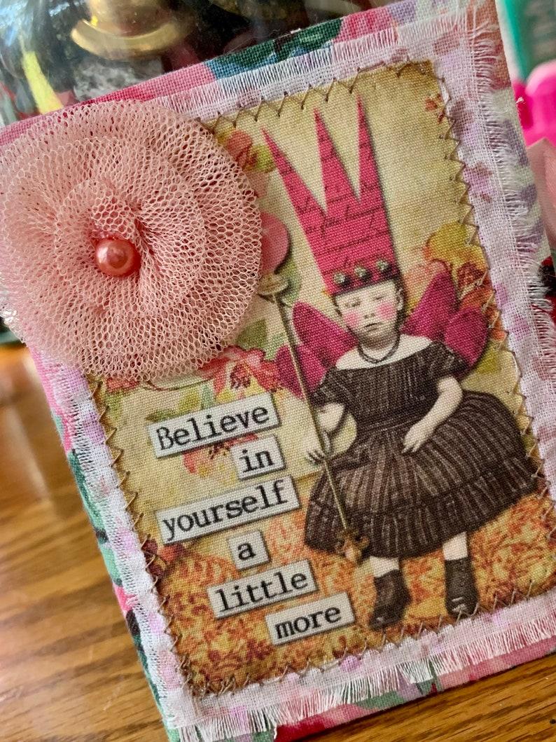 Handmade Needlebook Believe In Yourself Fairy