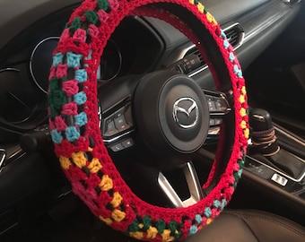 Steering Wheel Cover Cozy Granny Chic