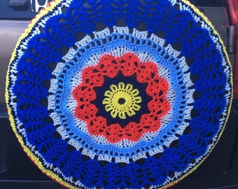 Sunshine In My Pocket Crochet Spare Tire Tyre Cover