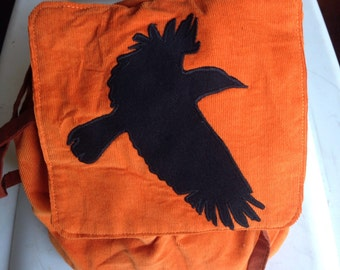 child's corduroy raven backpack