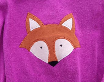 Toddler 18 months long-sleeved fox onesie.