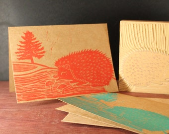 Happy Hedgehog Greeting Cards (4 Pack)