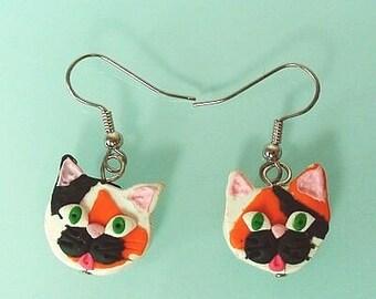 Calico Cat earrings