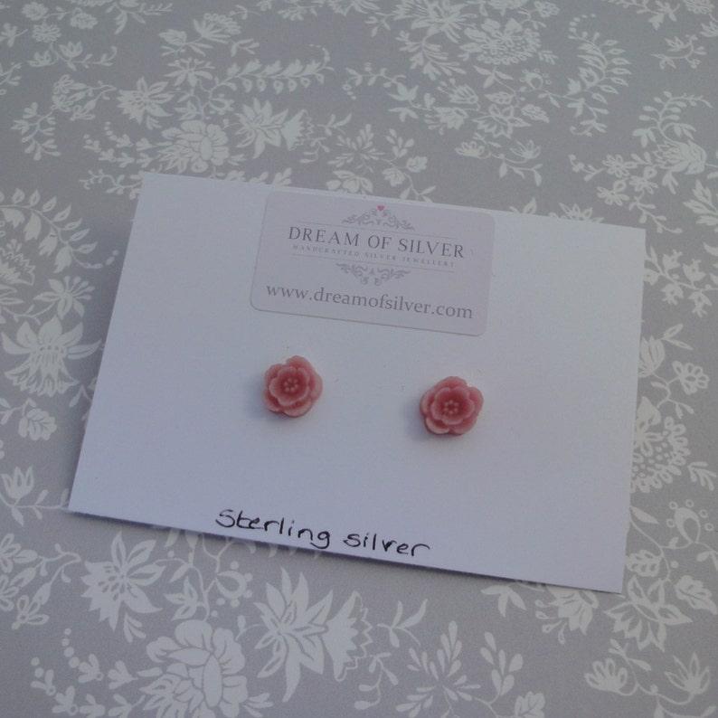 Blossom Stud Earrings  Pale Pink image 0