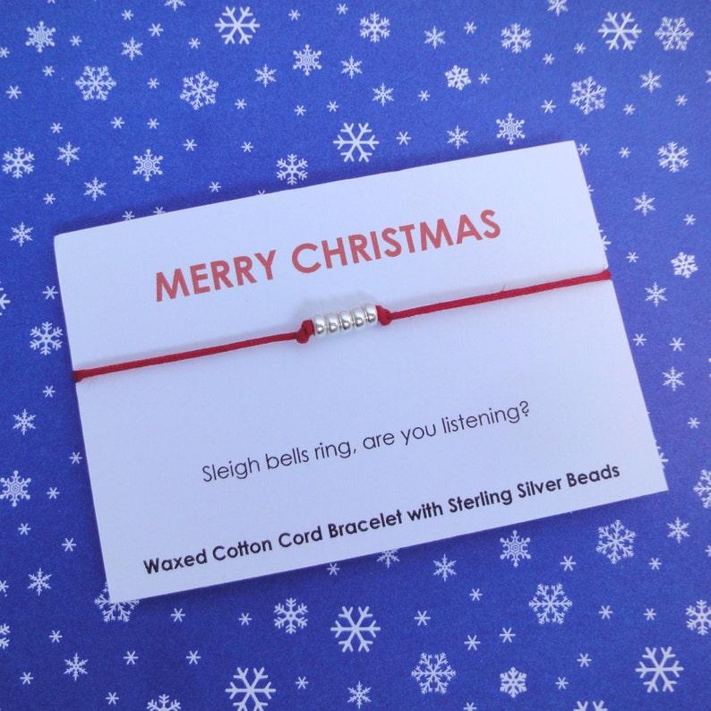 Merry Christmas Friendship Bracelet image 0