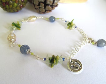 Beachy Beaded Anklet, Ankle Bracelet, Bohemian Anklet, Boho Chic, Pearl Bracelet, Summer Jewelry, Mermaid, Beaded Anklet, Moonlilydesigns