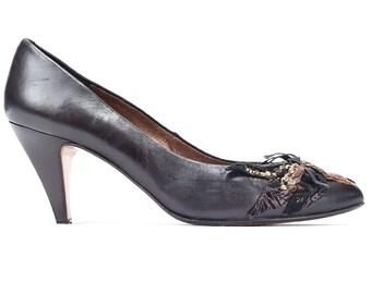 5143db2c5c46b Leather court shoes | Etsy