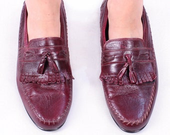 d4c8e4b27006a Wine red loafers | Etsy
