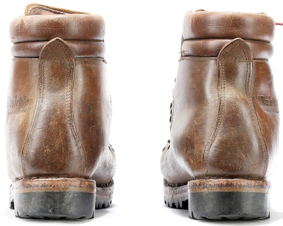 Boots US HIKING 1980s Eur Style Brown Distressed Men RAICHLE 41 Mens Military 7 Mountain Heavy Booties 8 Vintage Combat 80s 5 Uk Leather wAC4Artxq