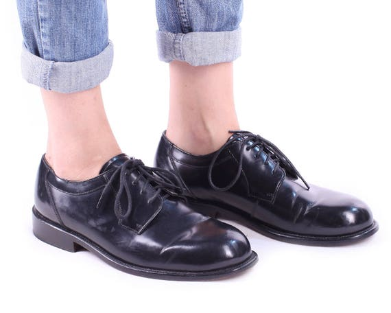 Oxford Lace Fit 8 Shoes Black Wide Eur Wedding Classy men Brogue LEATHER Up men 90s US 5 8 5 sz 42 US 8 Shoes Uk vAq7Zw
