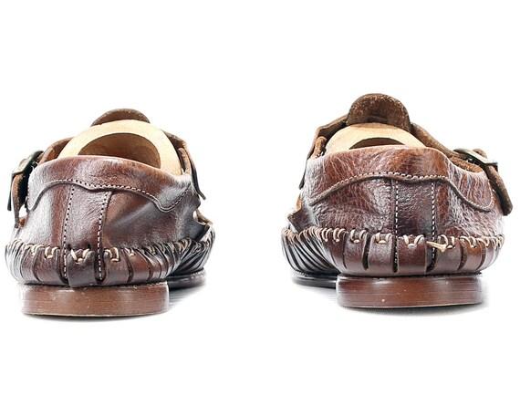 Vintage 7 men p cuir 5 en US sandales Huarache ASWqRqwp