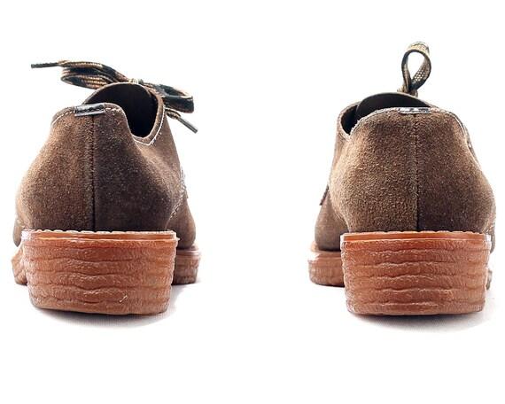 Up Shoe 5 Uk 5 Toe Oxford women Brogue Vintage Suede 5 Fit 38 Eur Nerdy Lace Cap 8 Shoes Platform Tomboy Shoes Brown US 70s Retro Wide SxRw4