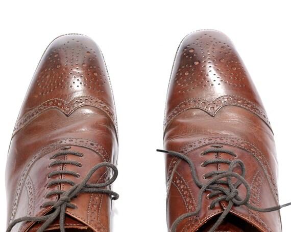 US 8 ROLANDO STURLINI Brogue 80s Shoes for Men Vin