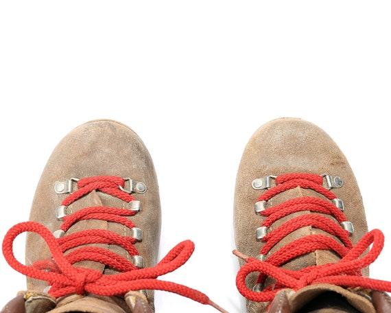 taille men unisexe euros Suede Uk Made Vintage 80 montagne 40 nous Swiss bottes cuir robuste 9 7 7 EUR 40 US femme sz s 5 Brown alpinisme 5 d7qw1d