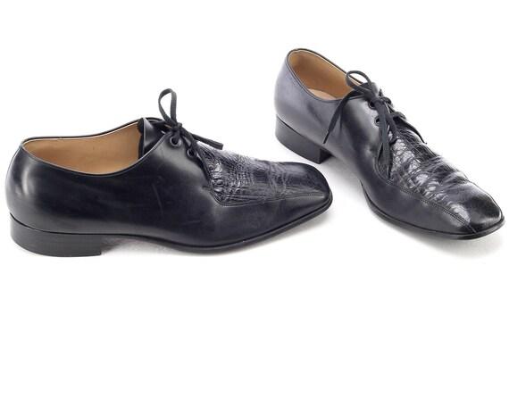 Us men 8.5 Black Oxfords Shoes 80s Wedding Shoes M