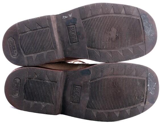 Uk Boss Men Ankle Beige Desert Mens Vintage Us size Men's Leather Faded 5 Booties DISTRESSED Toe Suede 43 80s Eur Hugo Square 8 9 Boots rrHR70x