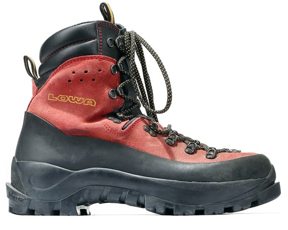 Hi mens Hiking UK Mountaineering Eur 8 Vintage Boots 5 Boots 8 Vibram Trail Climbing Sole 42 Suede Boots US Top Trekking Wild 90s LOWA Red Z17xdn0dw