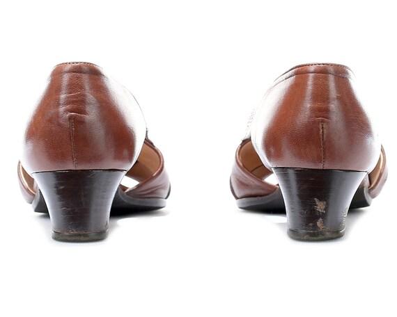 Leather Open Soft Low women Toe Sandals Shoes Retro Suede Peep Heel 5 Shoes Ladies 4 UK 5 7 Crisscross 37 Shoes Sides Vintage Brown Eur US XtTvxv