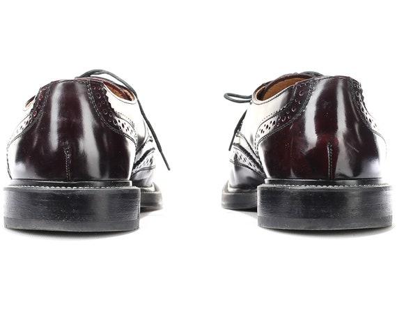 GALLUS Brown des ann Up Taille luxe US Brogues chaussures robe 8 hommes Vintage Dark cuir dentelle wx6Y8Axp