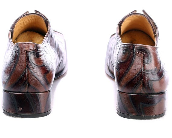 5 Eur Vintage Flats European 4 Ugly 37 Shoes women US sku Square 4383 Brown 6 Women 90s Quality Animal Toe Leather Uk Loafers Pattern XatEUx