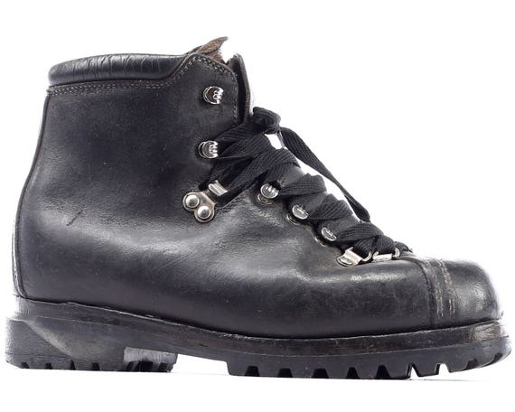 Footwear men Eur 5 COMBAT Leather 7 Ankle Vintage Military Military UK Logger 70s 41 1970s Hiking Black Boots 8 Boots Us Work T1rwRaqT