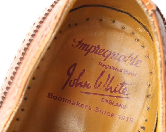 US Lace men 43 Shoes Wide 1970s Brogue Up Perforated Uk Vintage Dress 70s Men Oxfords 9 8 5 Eur Footwear Fit Shoes Shoes Men Leather rrqT6d1xw