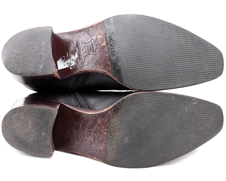 US Mujer 5.5 Ankle Beatle  botas  90s 90s 90s Block Heel Marrón Vintage Real cuero Western  botas ies Regular Fit Side Zip Chelsea  botas  UK 3 EUR 35.5 e64a74
