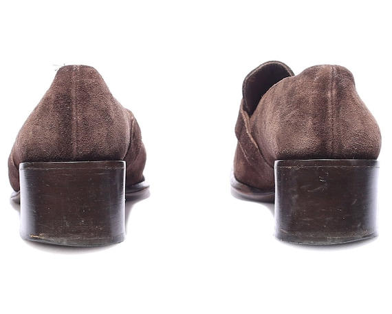 Us Wom Strap Eur Buckle Penny Heel Bohemian US Stable Suede Heel 5 Loafers 3 5 Brown Shoes sz Shoes 5 36 5 Slip Loafer on 70s Bloch Uk qfRw1O