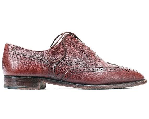 NOI uomini 10 Wingtip scarpe marrone Vintage Brogues uomini  fd66758cffa