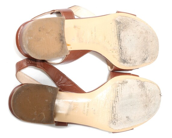 Eur 39 Uk 6 US 8.5 Multi Strap Shoes Mary Janes 90s Flats Vintage Slide On Sandals Three Tone Leather Flats Anti Shock Flexible Sole Women