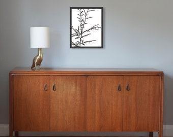 "Papercut, Larch 3, 14x18"" framed original hand-cut paper art"
