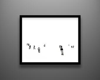 "Papercut, Morning, 18x14"" framed original hand-cut paper art"