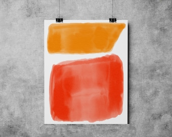 Watercolor 9 Mid Century Modern Shapes Series watercolor painting abstract watercolor mid century modern Eames Era watercolor paining print