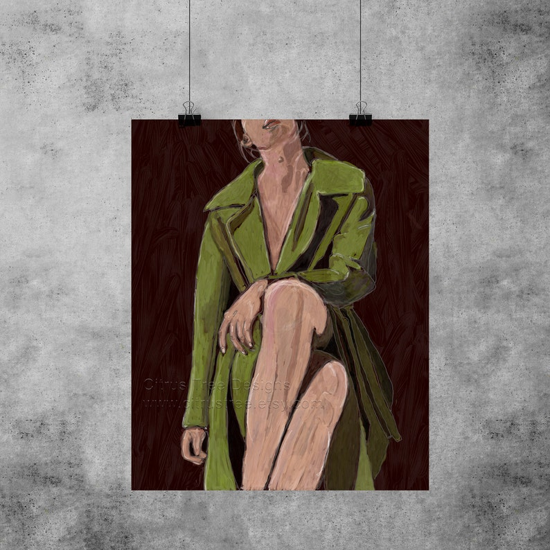 Original Painting  LIMITED EDITION Digital Painting Girl image 0