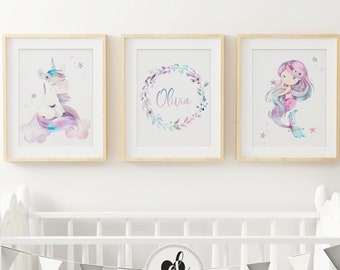 Baby Girl Wall Art Etsy