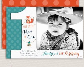 baby boy invitation 1st birthday boy invitation boy etsy