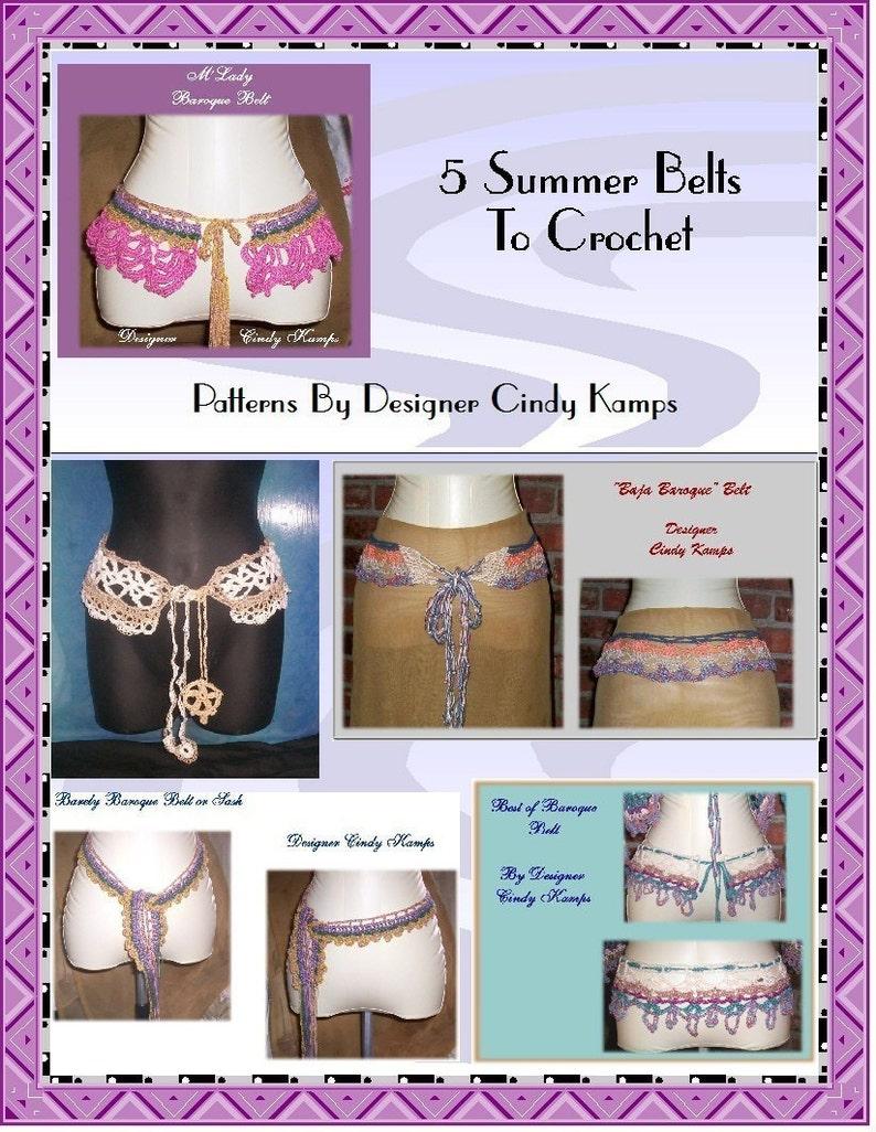 5 Summer Belts to Crochet