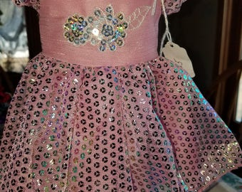 Doll Dress pink sequin