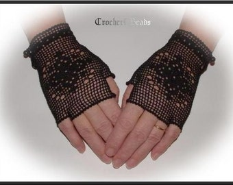 Fingerless Mitts Pattern  PDF Digital Download