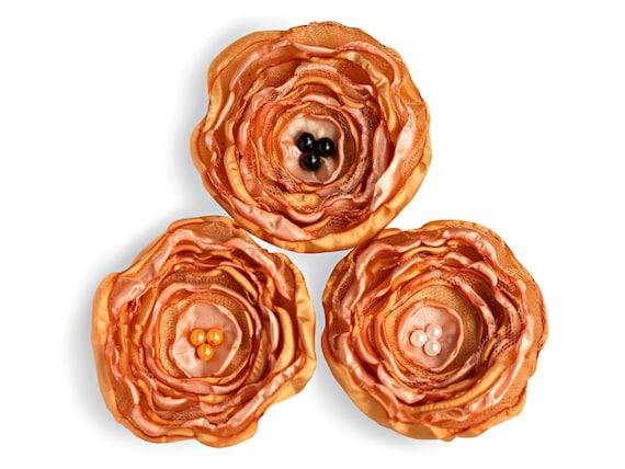 Ahnliche Artikel Wie Handgefertigte Seidenblumen 3 Apricotfarbene