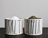 SALT and PEPPER cellars.