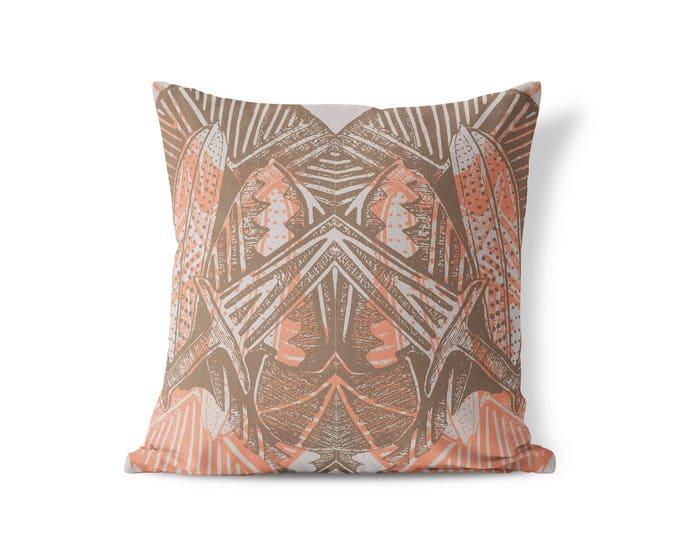 Featured listing image: Kara Pillow - Peach Mauve, Gray, Brown, Neutral