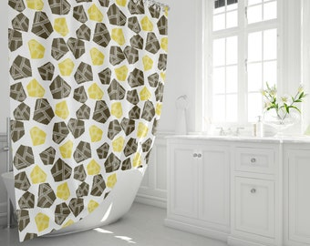 Bold Boulders Shower Curtain