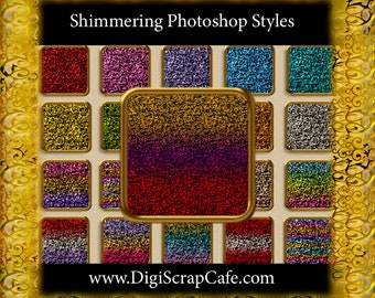 20 Seamless Shimmering Photoshop Styles