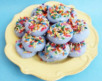 Doughnut Soap Mini Sprinkle Set - Blueberry Scented, Sprinkle Soaps, Mini Set, Party Favors, Kids Soap, Donut soap, Baby Shower Favors, Kid