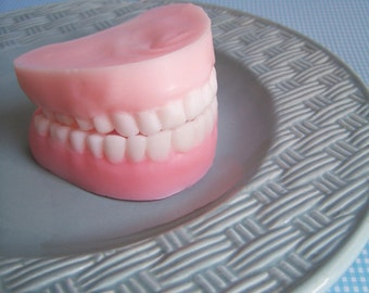 Denture Soap Peppermint Set - False Teeth, Gag Gift, Tooth, Soap, Prank Soap, Mint Scented, Soap Dentures, Funny Soap, Over The Hill, Silly